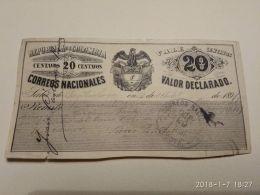 20 Centavos 1891 - Colombia