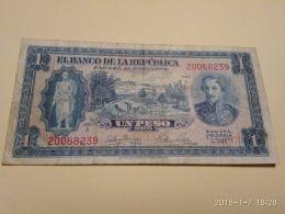 1 Peso Oro 1953 - Colombia