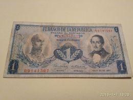 1 Peso Oro 1967 - Colombie