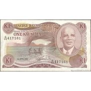 TWN - MALAWI 19b - 1 Kwacha 1.4.1988 G/44 417161 AVF - Malawi