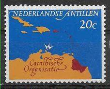 1964 ANTILLES  NEERLANDAISES 336 ** Conseil, Carte - Niederländische Antillen, Curaçao, Aruba