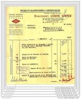 13 855 MARSEILLE 1955 Produit Alimentaire Et  Aromatique LOUIS GUIEU Rue 3 Freres Carasso Jardin Des Plantes HERBO - 1950 - ...
