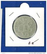 Belgio 50 Franchi, 1951 - SPL - ARGENTO - 1945-1951: Reggenza