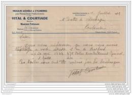 31 - 529 MARTRES TOLOSANE HAUTE GARONNE 1943 Moulin Modele VITAL Et  COURTIADE Minotiers - Moulin ˆ Cylindres - Agriculture
