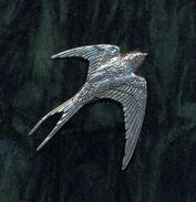 ZWALUW HIRONDELLE SWALLOW * TINNEN SPELD / PEWTER PIN * REF B25 - Animals