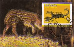 Eritrea 2001 Souvenir Sheet Scorpion, Scouting Emblem Double Print - Spiders
