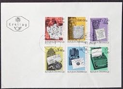 """Österreich 1965: WIPA'65 Michel-No.1184-1189 """"Entwicklung Der Schrift"""" FDC O WIEN 4.JUNI 1965 - Informatik"""
