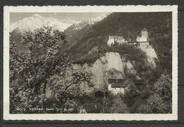 ITALIA REGNO ITALY KINGDOM CARTOLINA MERANO CASTEL TIROLO AUGUSTO DEL 1937 CENT. 25 - Merano