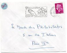 CHER - Dépt N° 18 = CHATEAUMEILLANT 1968 = FLAMME Codée = SECAP  Illustrée D'une AMPHORE ' ARCHEOLOGIE + Vins' - Marcofilia (sobres)