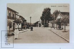 Old Africa Postcard - Afrique Occidentale - Dakar - Avenue Roume - Senegal