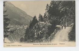 SUISSE - Route De Tête Noire Et Vue Sur Finhaut - VS Valais