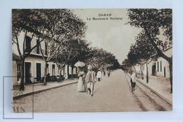 Old Africa Postcard - Afrique Occidentale - Dakar - Le Boulevard National - Senegal