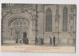 BOURG - Souvenir Du Passage De Sa Majesté La Reine Mère D'Italie à Bourg 7 Oct 1909 - Animée - Evénements
