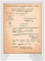 75 10 529 PARIS SEINE 1950 Appareils ˆ Souder Et  Braser BOT Et  FOSSE ( FossŽ Succ Ets FOUILLOUD Marque VES - France