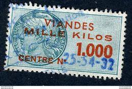Timbre Fiscal - Viandes 1958 Complet - (1 à 1000 Kg) N° 117 à 125 - Fiscale Zegels