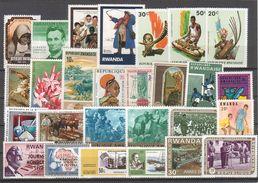 RWANDA. Tous Timbres Différents- Lot B - Vrac (max 999 Timbres)