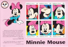Maldives 1999 MNH Scott #2352 Sheet Of 6 Rf5 Minnie Mouse - Disney