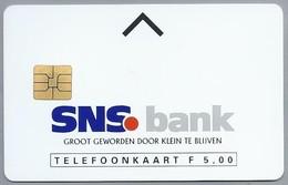 NL.- Telefoonkaart. 5 GULDEN. SNS Bank. GROOT GEWORDEN DOOR KLEINE TE BLIJVEN. D407630711 - Telefoonkaarten