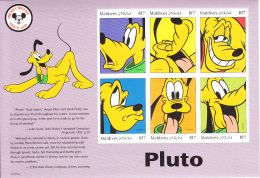 Maldives 1999 MNH Scott #2356 Sheet Of 6 Rf7 Pluto - Disney