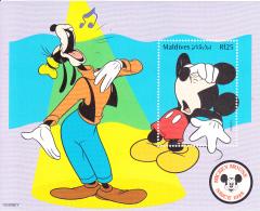 Maldives 1999 MNH Scott #2361 Souvenir Sheet Rf25 Mickey With Hand On Head - Disney