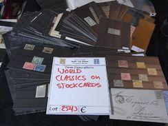 ~~ VRAC CLASSIQUES DU MONDE SUR CARTES NOIRES **/*/(o) PARFAIT POUR COLLECTIONEUR / VENDEUR - DEPART 1 EURO [2543] ~~ - Stamps