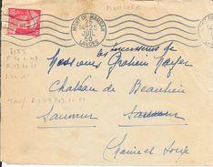 LANDES 40  -  MONT DE MARSAN  -  FLAMME N° MON 105 R  -   -  1950 - Postmark Collection (Covers)