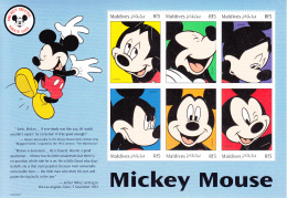 Maldives 1999 MNH Scott #2351-#2362 Complete Set Of 12 Disney Sheets - Maldives (1965-...)
