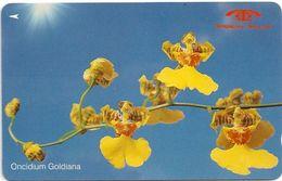 Singapore - Oncidium Goldiana, Orchids, 11SIGD, 1991, 180.000ex, Used - Singapore