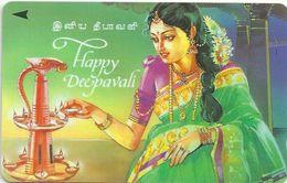 Singapore - Woman, Happy Deepavali, 91SIGA, 1996, 200.000ex, Used - Singapore