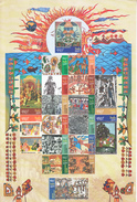 INDIA- 2017-  MAHABHARATA . The Epic Literature  - Complete Sheetlet In Full Set- Very Rare- MNH - Hojas Bloque