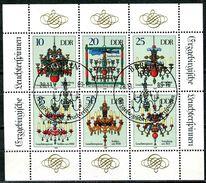 DDR - Michel 3289 7 3294 Kleinbogen - Gestempelt (A) -  Erzgebirgische Leuchterspinnen - [6] Oost-Duitsland