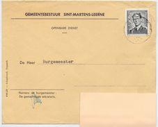 Enveloppe Omslag - Gemeente Sint Martens Leerne - Stempel - Stamped Stationery