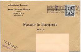 Enveloppe Omslag - Gemeente Commune Saint Josse Ten Noode - Stempel Brussel 1963 - Stamped Stationery