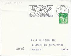 DORDOGNE 24  - MONTIGNAC   -  FLAMME N° 1169    -  VOIR DESCRIPTION  -  1962  - - Postmark Collection (Covers)