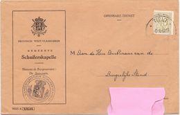 Enveloppe Omslag - Gemeente Schuiferskapelle - Stempel Tielt 1960 - Sobres