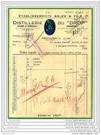 82 40 MONTAUBAN TARN GARONNE 1940 Distillerie Du Drop - Maison BALES  Et  FILS 13 Place Caperan ( Embleme Joueur R - Rugby