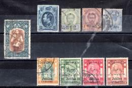 SIAM - 1883-1912 - LOT De 9 Timbres Oblitérés - Siam