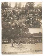 2 C.P.A PHOTO-Camp De Prisonniers De Guerre De KARLSRUHE, ALLEMAGNE--AVIATION- ENTERREMENT-CARTE PHOTO- Voir Description - Guerra 1914-18