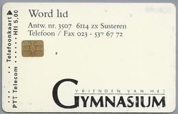 NL.- Telefoonkaart. 5 GULDEN. PTT Telecom. VRIENDEN VAN HET GYMNASIUM. Susteren. VERBA VOLANT, SCRIPTA MANENT. D806 - Telefoonkaarten