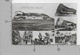 CARTOLINA VG GIBILTERRA - Greetings From GIBRALTAR - Vedutine - Multivue - 9 X 14 - ANN. 1957 - Gibilterra
