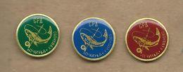 Sport Fishing Society - Pcinja - Kumanovo Macedonia.3 Pins Fish - Badges
