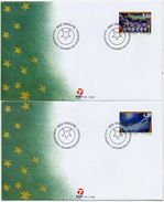 GREENLAND 2000 Christmas  On FDCs.  Michel 359-60 - FDC