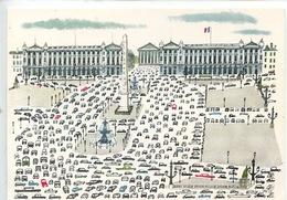 Miroslav Sasek: Paris Place De La Concorde (n°580) Illustateur Peintres - Plätze