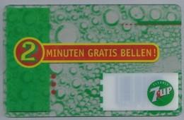 NL.- Telefoonkaart. 2 MINUTEN GRATIS BELLEN. - 7UP.- 7 UP.- - Reclame