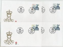GREENLAND 2000 Queen Margarethe Definitives On FDCs.  Michel 351-54 - FDC
