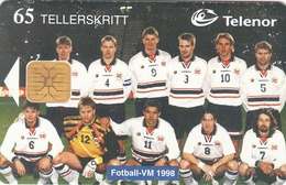 NORWAY - National Soccer Team WC 98, 06/98, Tirage 50.000, Used - Norway