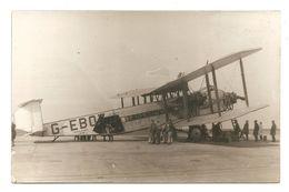 CARTE PHOTO -- G--AAXF-- Imperial Airway- LONDON -- AVION - AVIATEUR - PILOTE - 1919-1938: Entre Guerres