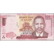 TWN - MALAWI 65b - 100 Kwacha 1.1.2016 Prefix BB UNC - Malawi