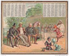 ALMANACH Des POSTES 1888 OBERTHUR  Au Jardin Des Tuileries - Calendars
