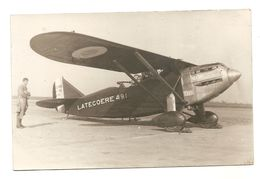 CARTE PHOTO -- LATECOERE 49.1 - AVION -  AVIATEUR - PILOTE - 1919-1938: Entre Guerres